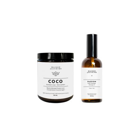 Ensemble corps (Exfoliant coco & huile à massage Passion)