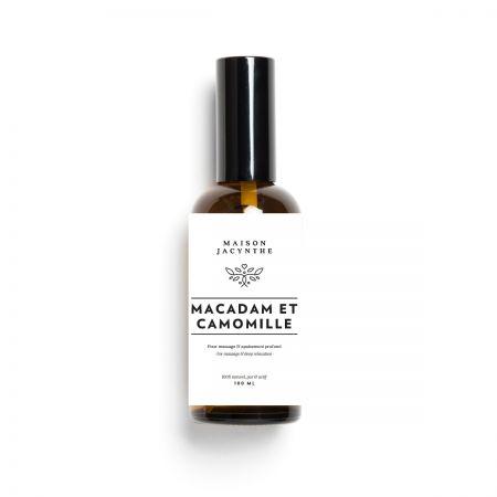 L'huile de massage de Macadam et Camomille