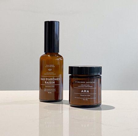 Duo AHA et eau d'arômes raisin