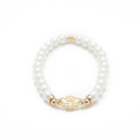 Secrète - Bracelet Perle Blanche