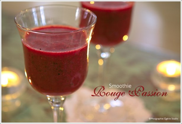 Smoothie rouge passion antioxydant