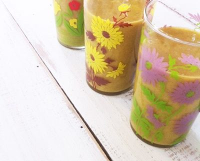 Yellow smoothie for a beautiful skin