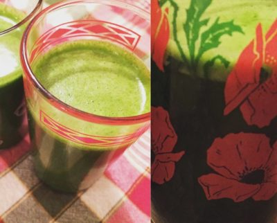 Green juice enriched with shoots