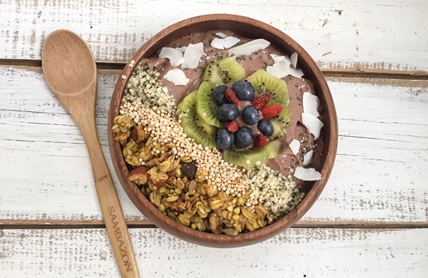 Acai, Coco and Matcha Bowl from Alexa Tymocko of Crux comptoir